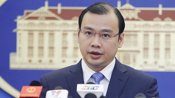 Người phát ngôn Bộ Ngoại giao Lê Hải Bình - Ảnh: Nguyễn Khánh