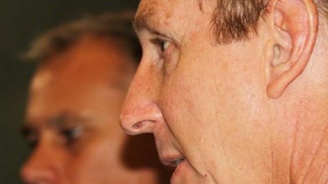 Ông Willem Westra van Holthe, Phó thủ hiến kiêm Bộ trưởng Bộ Công nghiệp - Thủy sản Vùng lãnh thổ Bắc Úc, trong buổi phỏng vấn với đài phát thanh ABC (Úc) - Ảnh chụp lại từ ABC