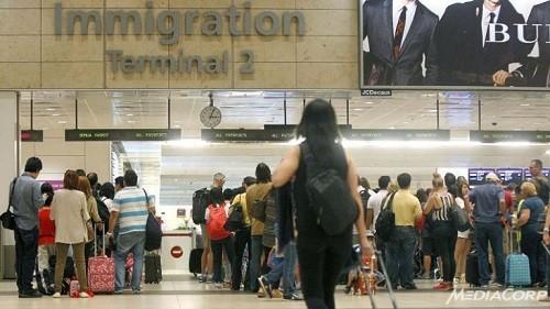 Khu nhập cảnh tại sân bay Changi, Singapore. Ảnh: mediacorp