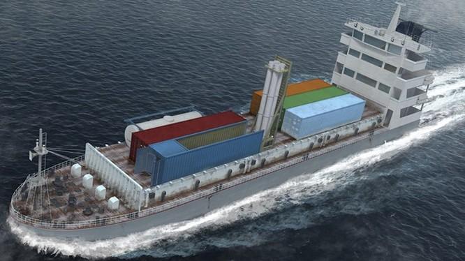 Tổ hợp Klub-K trên tàu hàng - Minh họa: Tập đoàn tên lửa AGAT (Nga)