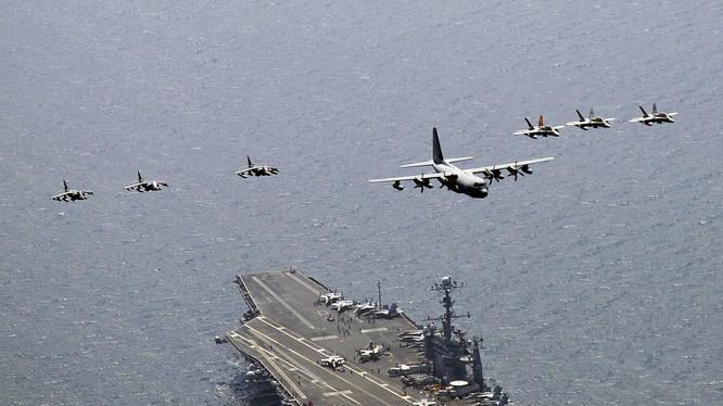 Cụm tác chiến tàu sân bay Mỹ luôn thường trực tại châu Á-Thái Bình Dương
