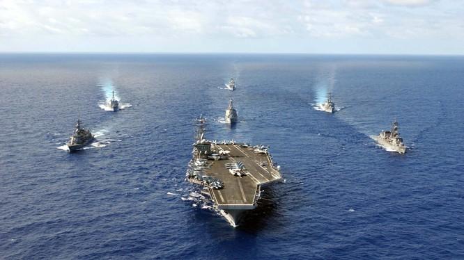 Cụm tác chiến tàu sân bay Mỹ luôn thường trực xung quanh Trung Quốc