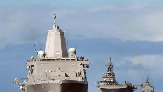 Đội tàu đổ bộ Essex ARG của Mỹ - Ảnh: Hải quân Mỹ