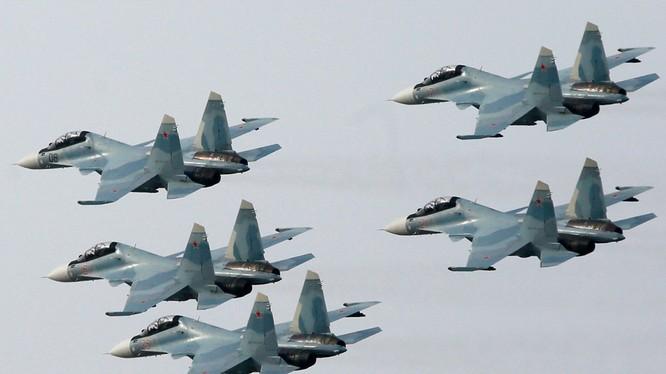 Phi đội Su-30SM của Nga đang tác chiến tại Syria