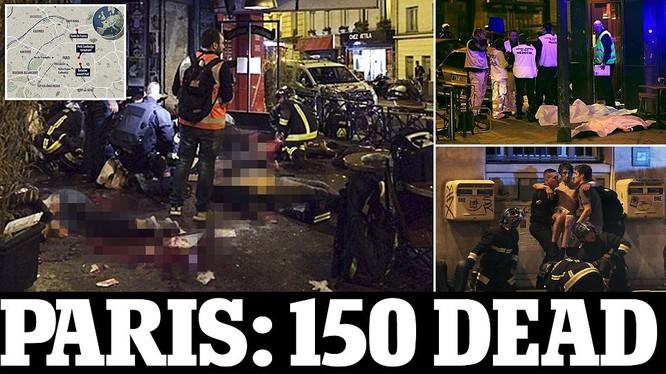 Hiện trường vụ tấn công khủng bố đẫm máu tại thủ đô Paris
