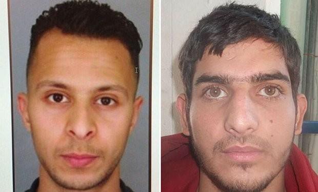 Hai nghi can Salah Abdeslam (trái) và Ahmad Almohamad - Ảnh: Telegraph