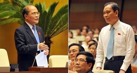 Chủ tịch QH Nguyễn Sinh Hùng và Bộ trưởng Nguyễn Thái Bình