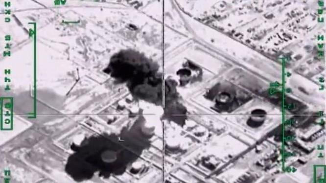Máy bay Nga không kích trúng một mục tiêu khủng bố ở Syria