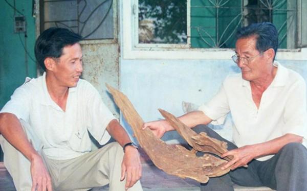 Một cục trầm của phu trầm Đại Lộc tìm thấy đưa về nhà