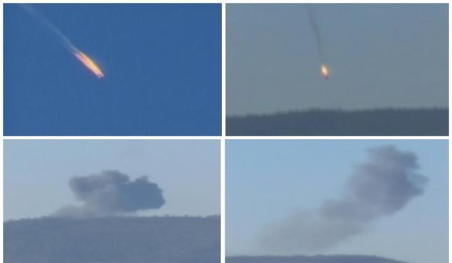 Máy bay Su-24 của Nga bị bắn cháy gần biên giới Thổ Nhĩ Kỳ