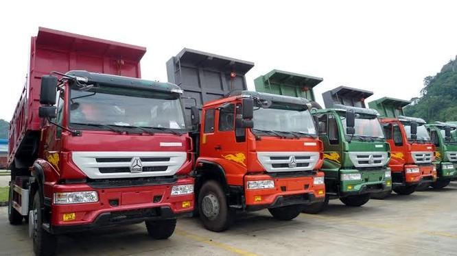 Xe tải Trung Quốc tràn vào thị trường Việt Nam