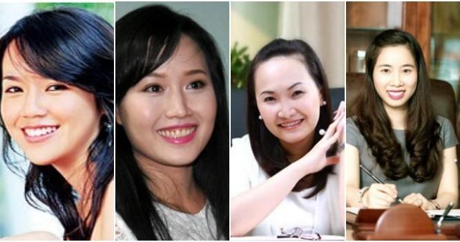 ừ trái qua: Nguyễn Ngọc Nhất Hạnh, Nguyễn Thái Nga, Đặng Huỳnh Ức My, Lê Thị Hoàng Yến