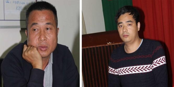 Nghi can Ye Guorong và TianJin khi bị PC45 Công an tỉnh Tây Ninh bắt giữ
