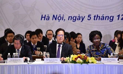 Việt Nam đặt mục tiêu thúc đẩy cải cách thể chế để tăng trưởng cao hơn trong 5 năm tới. Ảnh: CP