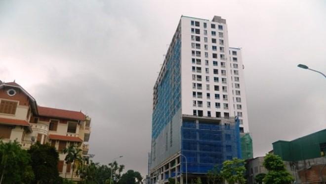 Tòa nhà 8B Lê Trực gây bức xúc dư luận đến nay vẫn lần lữa chưa giải quyết xong