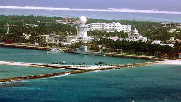 Các công trình bất hợp pháp do Trung Quốc xây dựng trên đảo Phú Lâm thuộc quần đảo Hoàng Sa của Việt Nam - Ảnh: AFP