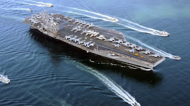 Tàu sân bay USS Reagan là mục tiêu tấn công giả định