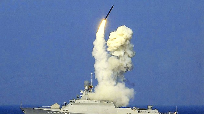 Chiến hạm Nga phóng tên lửa Kalibr từ biển Caspian