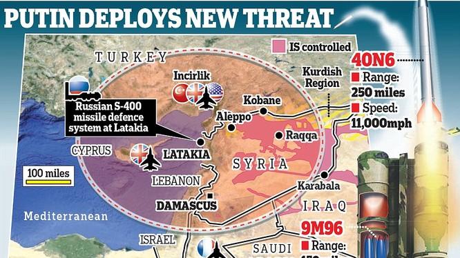 Nga đã triển khai hệ thống S-400 khét tiếng đến Syria