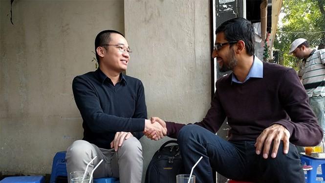 """Nguyễn Hà Đông """"trà chanh"""" cùng CEO Google tại Hà Nội"""