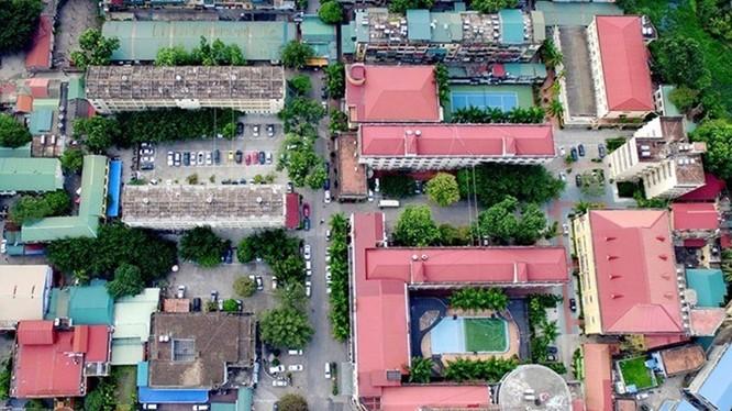 Toàn cảnh khách sạn Kim Liên nhìn từ trên cao vừa được mua lại với giá gấp 9 lần giá khởi điểm