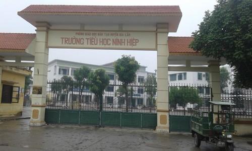 Đa số học sinh 2 trường tiểu học và THCS Ninh Hiệp đã trở lại trường học. Ảnh: Võ Hải.