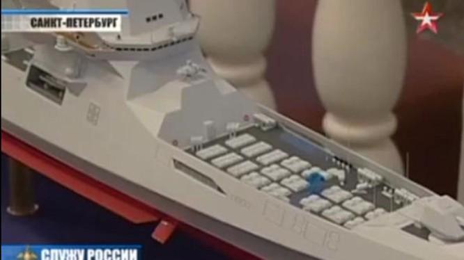 Nga hé lộ khu trục tên lửa khủng nhất thế giới