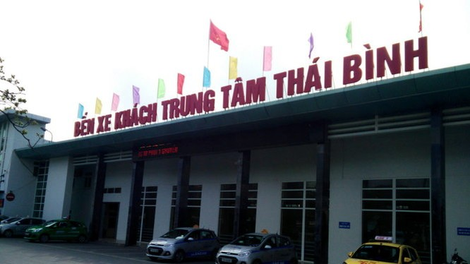 Bến xe khách Thái Bình, nơi Han đánh cắp chót lọt xe khách giường nằm trị giá 3 tỉ của doanh nghiệp vận tải Hoàng Hải ra khỏi bến - Ảnh: Tiến Thắng