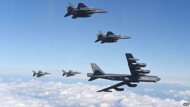 Ngay sau khi Triều Tiên thử hạt nhân, Mỹ lập tức điều pháo đài bay B-52 tới để thị uy