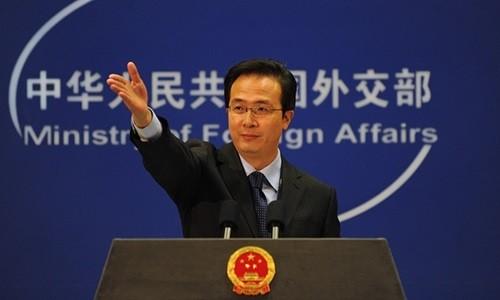 Phát ngôn viên Bộ Ngoại giao Trung Quốc Hồng Lỗi. Ảnh: Xinhua