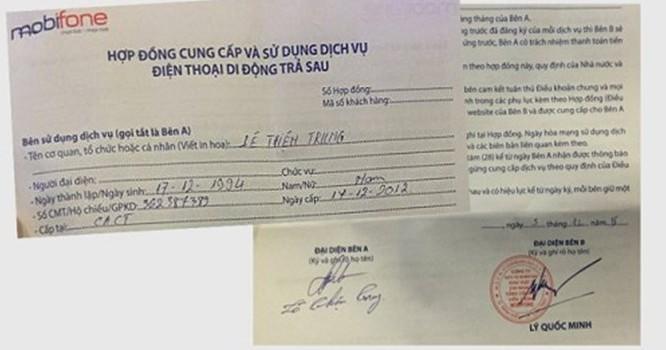 Hợp đồng của anh Trung đã ký, nhưng sau đó bị chặn tin nhắn và 3G vì có hộ khẩu chung với người chú của mình - Ảnh nguồn: Tuổi trẻ.