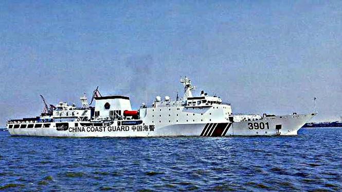 Trung Quốc sẽ sớm đưa tàu tuần tra biển lớn nhất thế giới ra Biển Đông - Ảnh chụp màn hình Straits Times