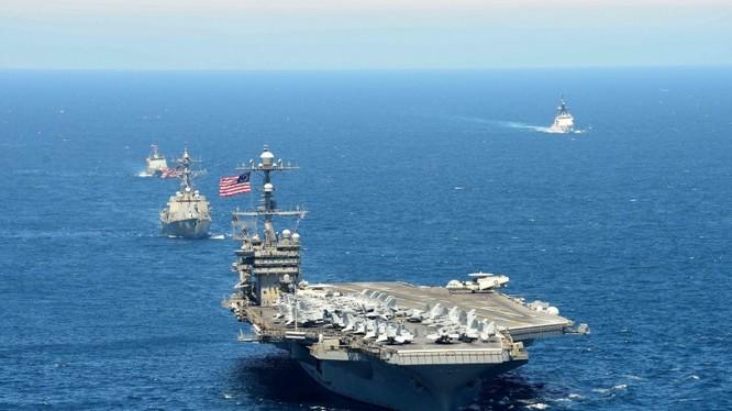 Cụm tác chiến tàu sân bay Mỹ thường xuyên hiện diện tại châu Á-Thái Bình Dương