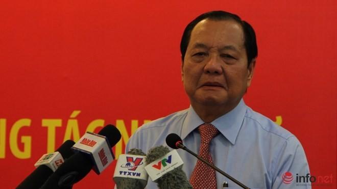 Ông Lê Thanh Hải rơi nước mắt khi nhắc đến ông Võ Văn Thưởng.