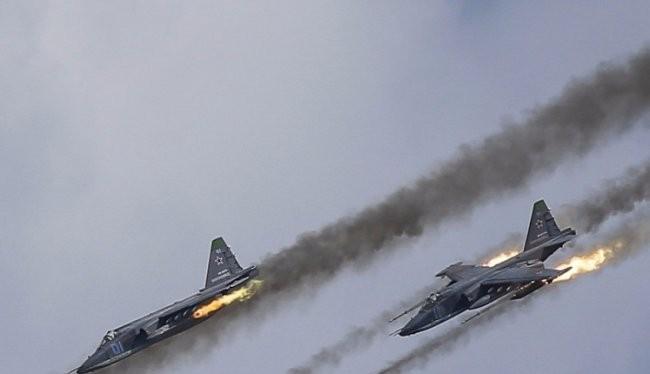 Chiến đấu cơ Nga dội hỏa lực xuống vị trí phiến quân khủng bố Syria