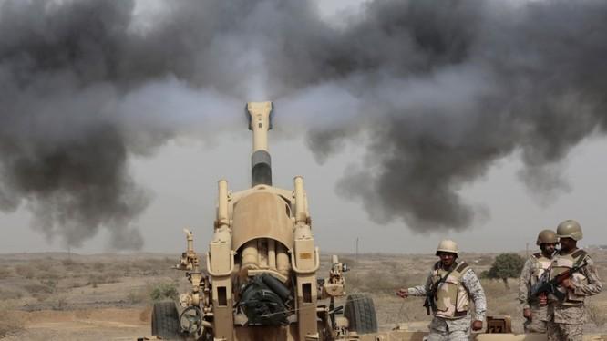 Pháo binh Saudi Arabia tham chiến ở Yemen