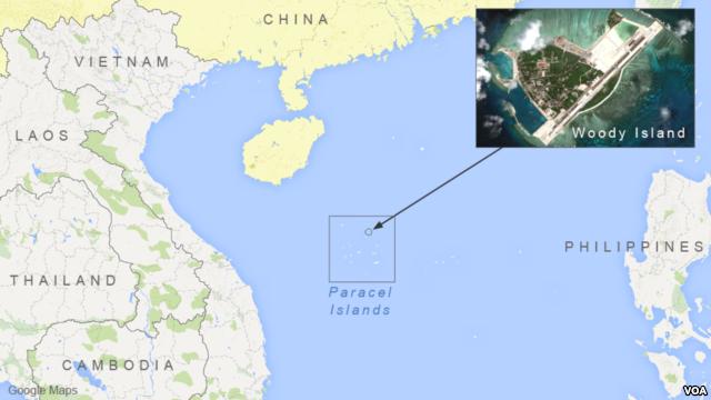 Vị trí đảo Phú Lâm tại Hoàng Sa, nơi Trung Quốc triển khai tên lửa khiến dư luận quốc tế lo ngại