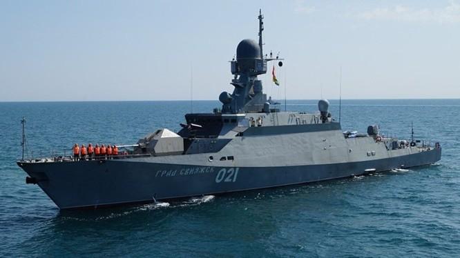 Chiến hạm Buyan-M mang tên lửa hành trình Kalibr