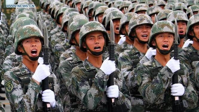 Quân đội Trung Quốc trong lễ duyệt binh năm 2015