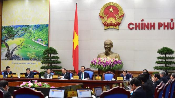 Phiên họp Chính phủ thường kỳ tháng 2-2016 - Ảnh: Chinhphu.vn