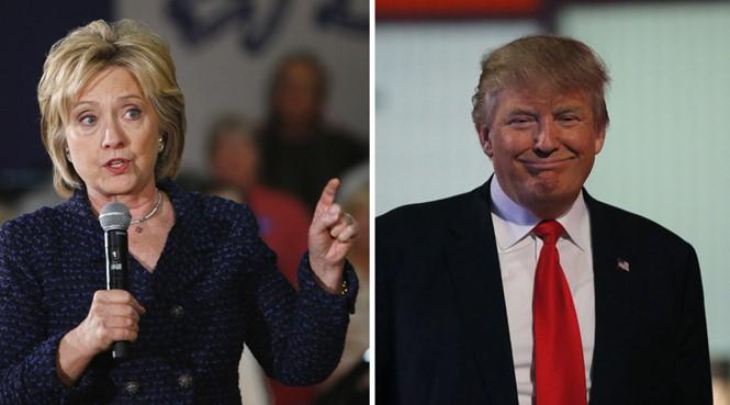Bà Hillary Clinton và tỉ phú Donald Trump vẫn đang là các ứng cử viên có lợi thế ở đảng Dân chủ và đảng Cộng hòa - Ảnh: Reuters