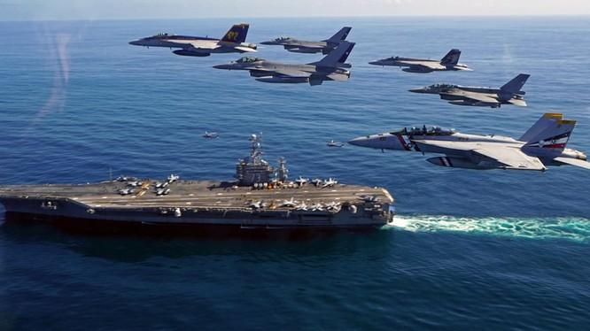 Cụm tác chiến tàu sân bay Mỹ luôn thường trực trong khu vực