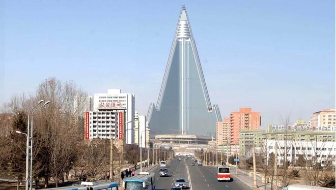 Một góc thủ đô Bình Nhưỡng của Triều Tiên