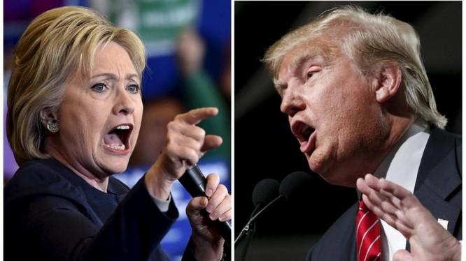 Bà Hillary và ông Trump đang dẫn đầu cuộc đua của hai đảng