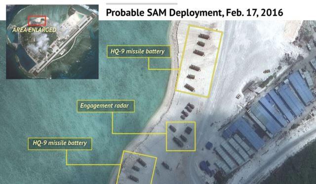 Trung Quốc triển khai tên lửa và máy bay chiến đấu tại đảo Phú Lâm thuộc quần đảo Hoàng Sa của Việt Nam