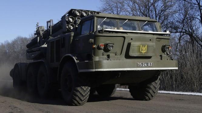 Hệ thống pháo phản lực của Ukraine đã được triển khai đến Donbass