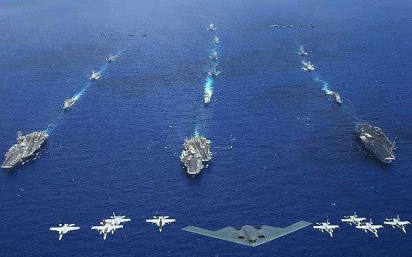 Hạm đội và lực lượng không quân hùng hậu của Mỹ luôn thường trực ở châu Á