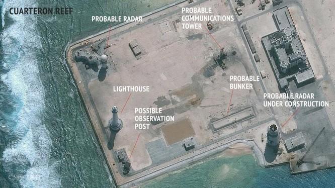 Trung Quốc triển khai các hệ thống radat trên đá Châu Viên thuộc quần đảo Trường Sa của Việt Nam