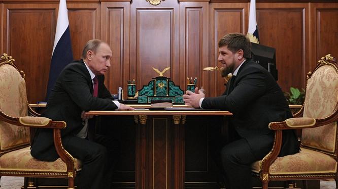 Tổng thống Putin và ông Kadyrov