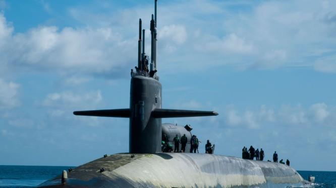 Tàu ngầm hạt nhân Ohio mang tên lửa đạn đạo của Mỹ